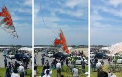 Video: Diều khổng lồ nặng 700 kg rơi xuống đám đông ở Nhật