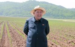 Kim Jong-un đội mũ thời trang đi thăm lúa