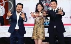 Triệu Vy, Huỳnh Hiểu Minh in dấu tay tại Hollywood