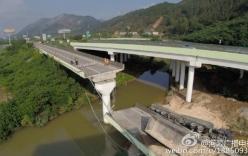 Hiện trường sập đường cao tốc trên cao, khiến 1 người thiệt mạng tại Trung Quốc