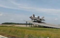 Video: Xem tiêm kích tàng hình Mỹ cất cánh theo kiểu nhảy cầu