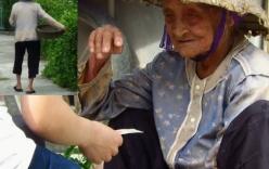 Video xúc động: Cụ bà bán rau Thái Bình kiếm 10.000 đồng/ngày