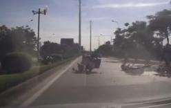Hà Nội: Tài xế đi ngược chiều gây tai nạn liên hoàn