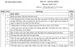 Đáp án đề thi môn Văn, THPT quốc gia: đáp án chính thức của Bộ GD-ĐT