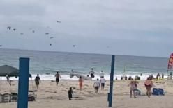 Video: Máy bay lao xuống bãi biển khiến bé trai 12 tuổi bị thương ở đầu