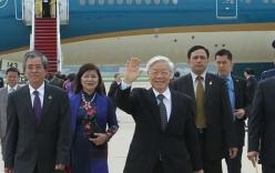 Video: Chuyên cơ chở TBT Nguyễn Phú Trọng hạ cánh tại thủ đô Washington, bắt đầu chuyến thăm Mỹ