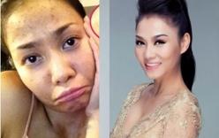 Khuôn mặt trước và sau trang điểm của dàn mỹ nhân Việt