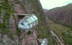 Cận cảnh khách sạn cheo leo trên vách núi
