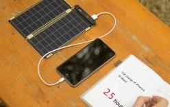 Sạc pin siêu mỏng sử dụng năng lượng mặt trời