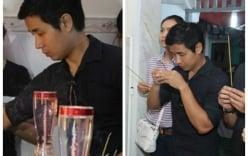 Nguyên Khang, Trương Quỳnh Anh đau buồn đến viếng MC Quang Minh