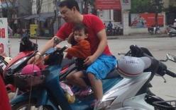 Quang Thắng chở con trai trên chiếc xe máy cũ gây sốt mạng