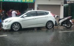 Thanh niên đi xe SH đuổi 5km bắt tài xế ô tô gây tai nạn xin lỗi