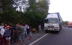 Cảnh sát giao thông truy đuổi xe tải gây tai nạn bỏ chạy