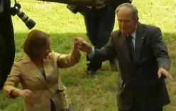 Video: Cựu Tổng thống Mỹ Bush trổ tài khiêu vũ