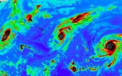 Hiện tượng hiếm: Ba cơn bão mạnh cùng xuất hiện trên Thái Bình Dương