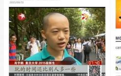 Nam sinh 14 tuổi trúng tuyển ĐH hàng đầu Trung Quốc