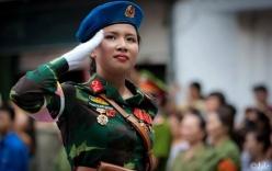 Vì sao nữ quân y đeo quân hàm Trung tá khi diễu binh ngày 2/9
