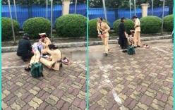 Cô gái ngất xỉu sau lễ diễu binh gây xúc động mạnh