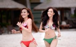 Người đẹp Hoa hậu Hoàn vũ Việt Nam 2015 khoe dáng với áo tắm