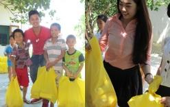 Trọng Hiếu, Khánh Tiên giản dị trao quà cho trẻ em nghèo