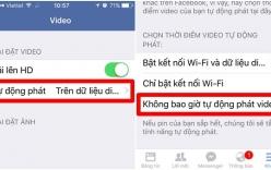 Clip hướng dẫn tắt tính năng tự chạy video trên facebook