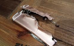 Xé toạc iPhone 6s Rose Gold bằng súng 12,7 li