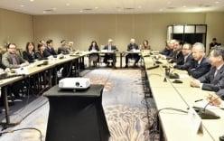 Gian nan buổi họp báo công bố kết quả đàm phán TPP