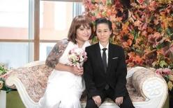 Ảnh cưới độc đáo của vợ chồng Vũ Duy Khánh khi hoán đổi giới tính