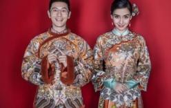 Huỳnh Hiểu Minh và Angela Baby khoe khéo ảnh cưới hài hước