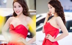 Giải trí - Hoa hậu Kỳ Duyên đẹp lạ với đầm cúp ngực dự sự kiện