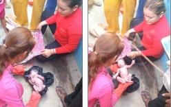 Giải cứu bé sơ sinh còn nguyên dây rốn bị bỏ lại bên vệ đường