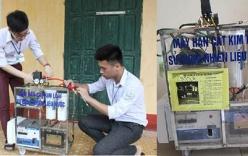 Học sinh cấp 3 chế tạo máy cắt kim loại bằng nước