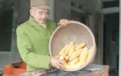 Lão  nông 90 tuổi tự mày mò chế tạo máy tách hạt ngô