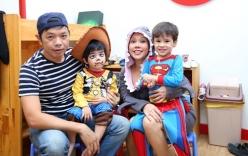 Việt Hương khoe ảnh hai con vui Halloween