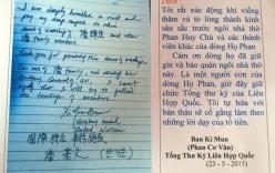 Bút tích của ông Ban Ki-Moon nhận là con cháu dòng họ Phan?