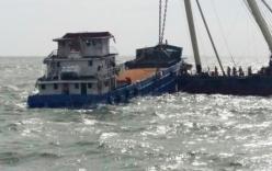Trục vớt thành công tàu Hoàng Phúc 18 bị lật