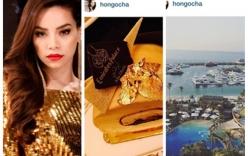 Hồ Ngọc Hà khoe ăn bánh dát vàng, ở khách sạn 7 sao