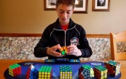 Video: Cậu bé 14 tuổi xoay rubik nhanh nhất thế giới với 4,9 giây