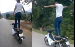 Top video hot ngày 26/11: Thanh niên liều mạng đi xe máy như