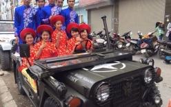 Dàn rước dâu bằng xe jeep ở Hà Nội gây sốt cộng đồng mạng