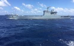 Tàu chiến Trung Quốc chĩa súng đe dọa tàu Việt Nam