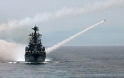 Video: Uy lực chiến hạm Nga đưa đến Syria sau vụ Su-24