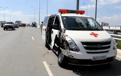 Xe cứu thương gây tai nạn liên hoàn trên đường chuyển bệnh nhân