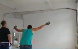 Bức tường đổ sập sau tiếng hét của người đàn ông