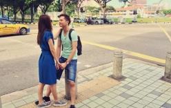 Vợ chồng Tú Vi - Văn Anh hạnh phúc đi nghỉ tại Singapore