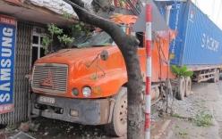 Ninh Bình: Xe container lao vào nhà dân khiến 1 người tử vong