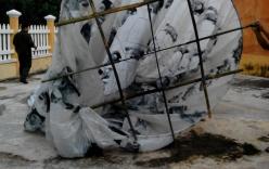 Vật thể lạ hình cầu mang chữ Trung Quốc rơi xuống Quảng Nam