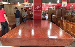Sập gỗ Cẩm đỏ nguyên khối giá gần 2,5 tỷ