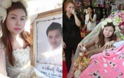 Xót xa cảnh cô dâu xinh đẹp cử hành hôn lễ trong đám tang chú rể