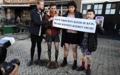 Video: Đàn ông Hà Lan mặc váy ngắn giữa trời lạnh